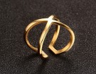 JT - Gold plated cross ring thumbnail