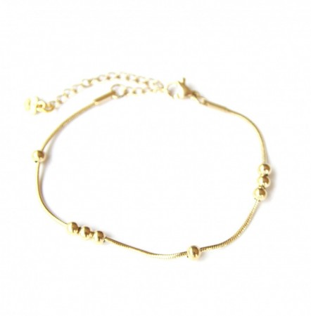JT - Armbånd gold plated beads
