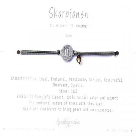 Stjernetegn armbånd sølv